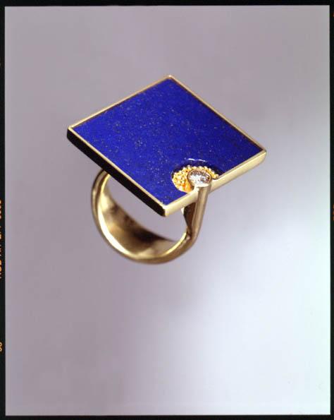 anello, tormalina, oro, diamante, KH Reister 2001