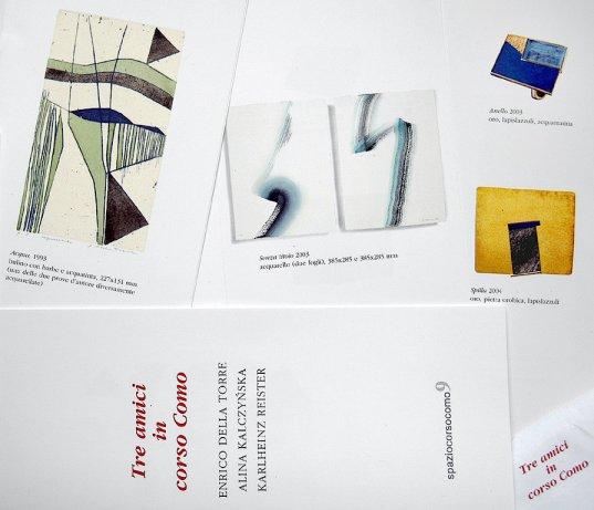 miniatura anteprima dell'invito mostra 3 amici in Corso Como